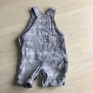 One Pieces - 🇬🇧 boys grey overalls & t-shirt set 6-9 months