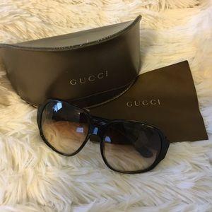 GUCCI Tortoise Square Frame Sunglasses GG 2948/S