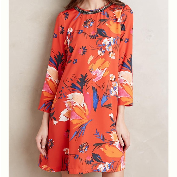 536c8b49a0fe3 Anthropologie Dresses & Skirts - Anthropologie Maeve Sketched Peonies Tunic