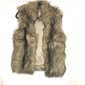 Michael Kors tan faux fur vest