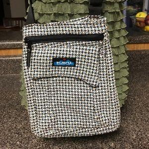 Kavu blue white cross body bag purse medium size