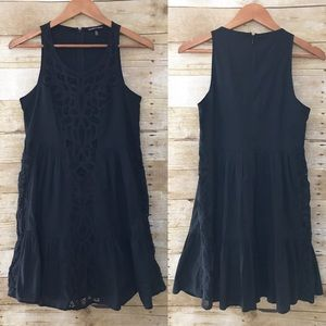 Victoria's Secret Dresses & Skirts - Victoria's Secret Lace ruffle Black Cotton Dress