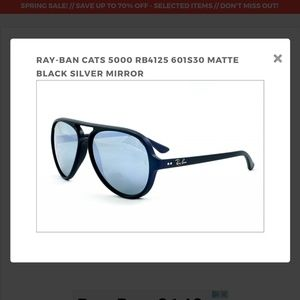 88fb74ad0dfb97 Ray-Ban Accessories - Ray Ban Aviator RB 4125 CATS 5000 601-S