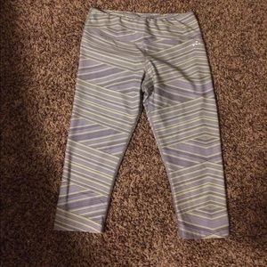 Champion Pants - Yellow and gray Capri