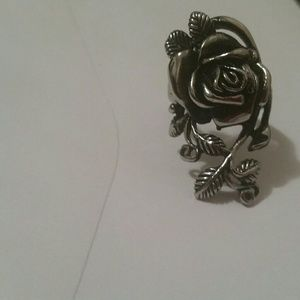 Stainless steel rose ring size 12