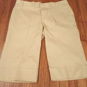 Weatherproof Pants - Weatherproof Tan Cuffed Capri Pants