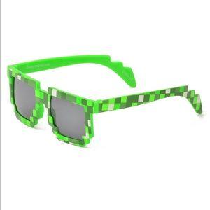 Other - Minecraft pixel animation sunglasses & soft case