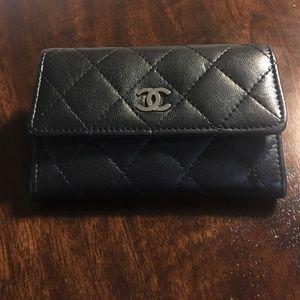 Chanel cardholder lamb skin