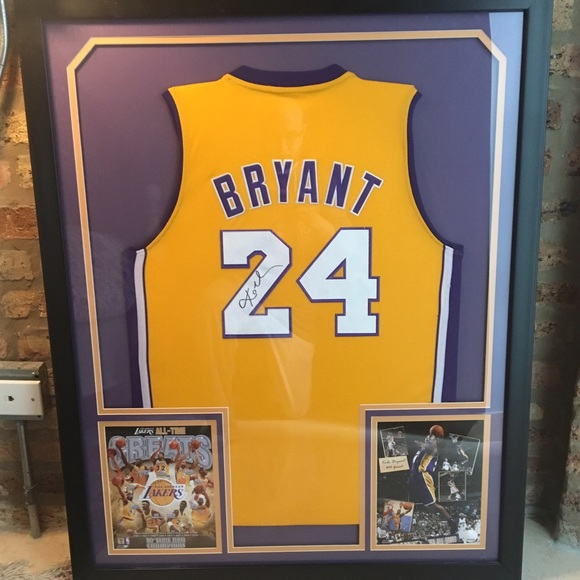 newest collection 7cb16 ea902 Framed and signed Kobe Bryant jersey! Certified!