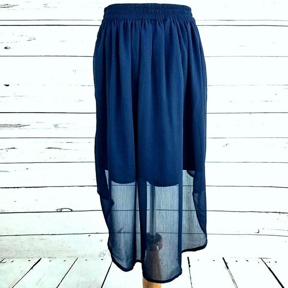44 converse dresses skirts sheer navy blue high