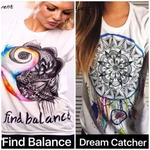 Tops - Good Vibes Chakra Balance or Dream Catcher T Shirt