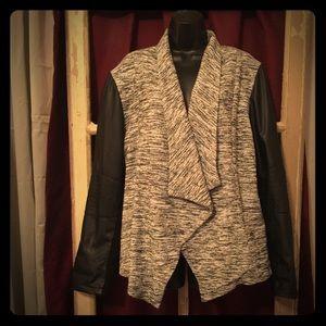 Sebby Jackets & Blazers - Blazer w/ faux leather detail XXL NWT