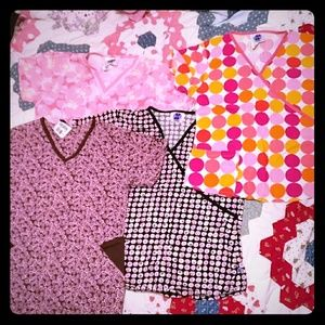 Landau Tops - Lot of Various Printed Landau XS & S Scrub Tops