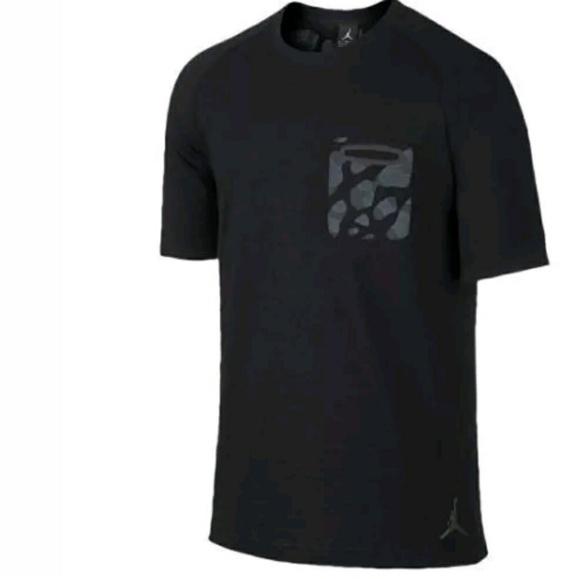 c141de69 Air Jordan Shirts | Black Gray Camo Pocket Tee Shirt | Poshmark