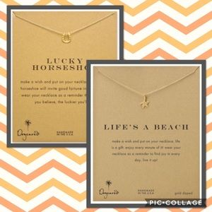 Dogeared Jewelry - Dogeared gold dipped necklace bundle