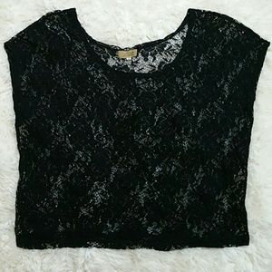 Piko 1988 Tops - Piko 1988 black lace crop top