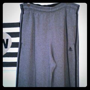 Adidas Other - ADIDAS gray sweat pants black double stripe Medium