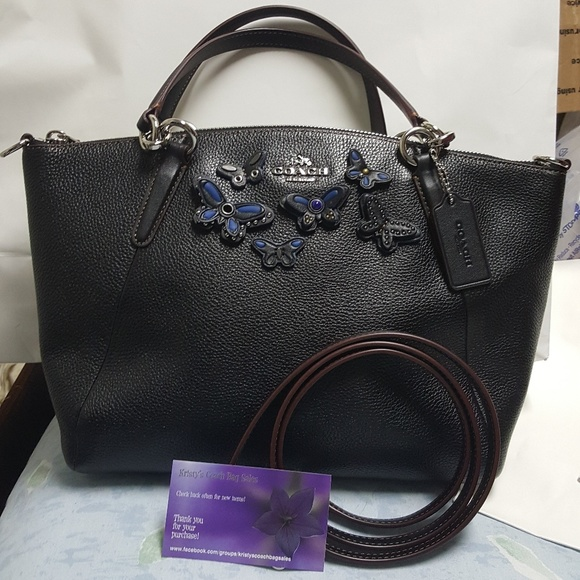 f31048ff65b2 norway nwt coach small kelsey satchel in butterfly d6b78 74751