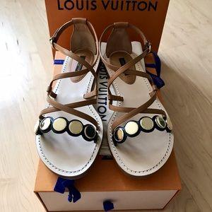 cabaf9f3b7b2 Louis Vuitton Shoes - LOUIS VUITTON SOUTH BEACH STRAPPY SANDAL 38.5  970
