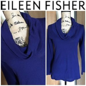 EILEEN FISHER 100% Merino Wool Cowl Neck Sweater