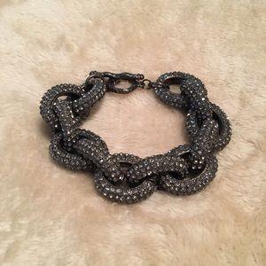 J. Crew Jewelry - JCP • Silver Paved Link Bracelet