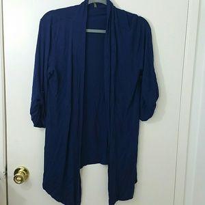 Olivia Moon Sweaters - Olivia Moon drapey open cardigan with 3/4 sleeves