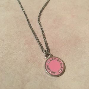Marc by marc jacobs enamel logo necklace