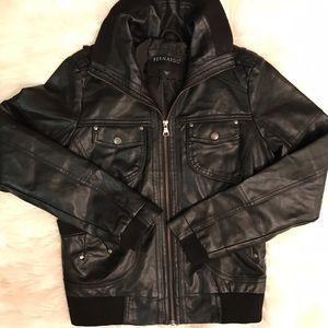 Bernardo Jackets & Blazers - Black faux leather jacket