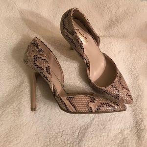 Snake printed High Heels