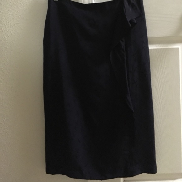 149593453521fe Front ruffle pencil skirt,size 4,navy, W-30