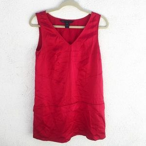 Marc By Marc Jacobs Red V-neck Silk Dress