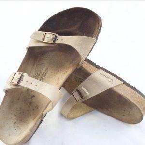 Birkis Birkenstock tan sandals