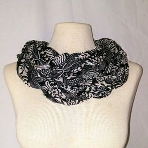Vintage Accessories - BUSY Pattern Infinity Scarf