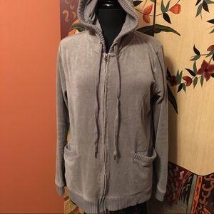 Cute gray velour hoodie