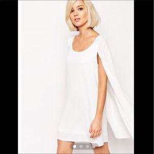 Lavish Alice  Dresses & Skirts - Lavish Alice white floaty cape dress size 14