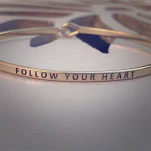 """FOLLOW YOUR HEART"" Bangle Bracelet"