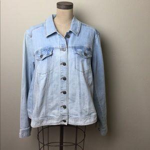 Sejour Jackets & Blazers - Sejour distressed Jean jacket