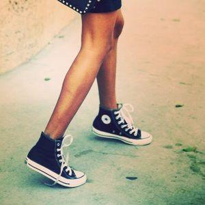 Converse Shoes - Converse Blue High Top Shoes