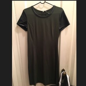 DKNY army green and black dress