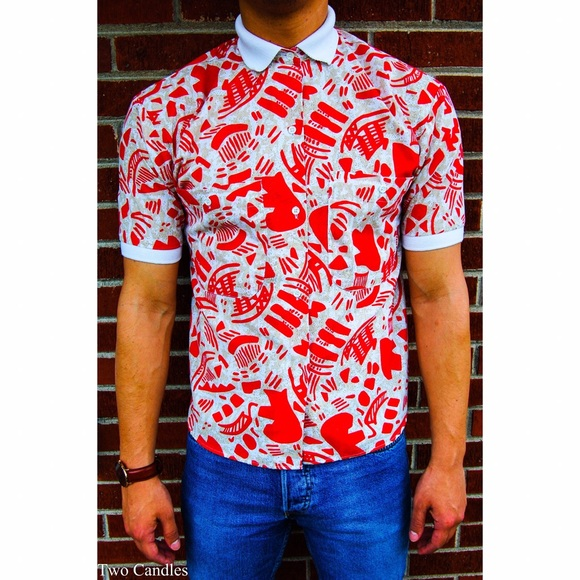 22db20e5 Levis Shirts | Vintage Red And White Hawaiian Button Up | Poshmark