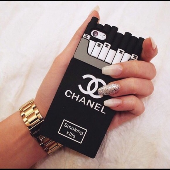 pretty nice af9be 01731 Chanel smoking kills iPhone case for 7/7plus