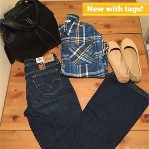 NWT Levi's 518 Superlow Bootcut Jeans