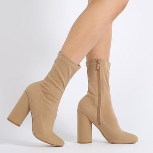 Tan Sock Booties