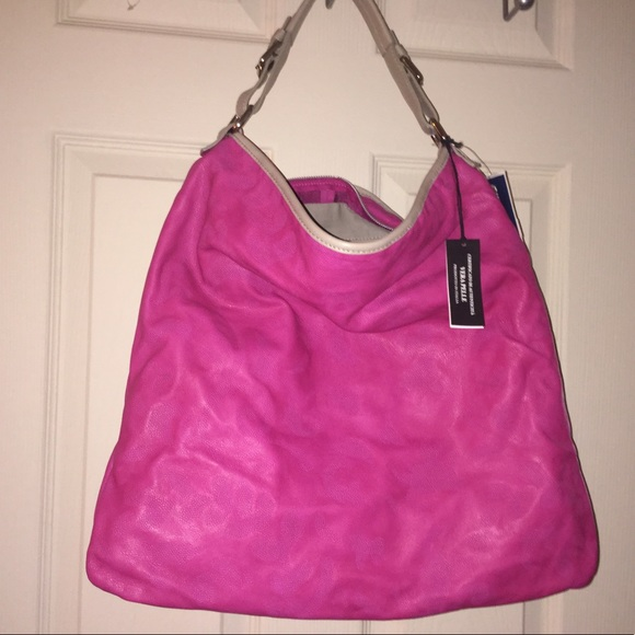 a2f7ad020318 Pink Gianni Notaro Hobo Leather Purse Extra Large