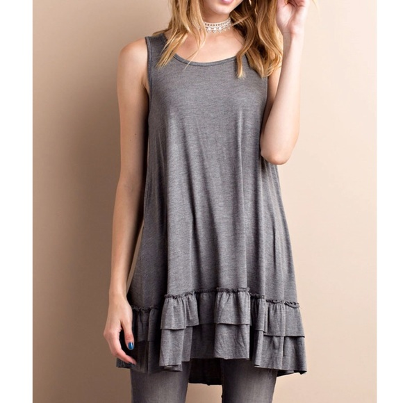 57 off b chic boutique tops gray sleeveless double for Boutique tops