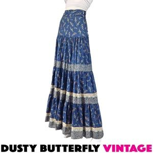 Gunne Sax Dresses & Skirts - VINTAGE 70s GUNNE SAX PRAIRIE SKIRT Festival BOHO