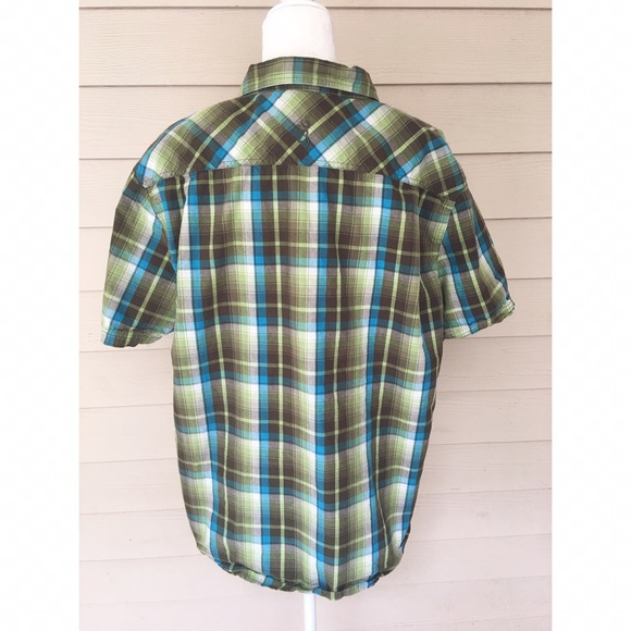 Browning browning blue and green plaid shirt from for Blue and green tartan shirt