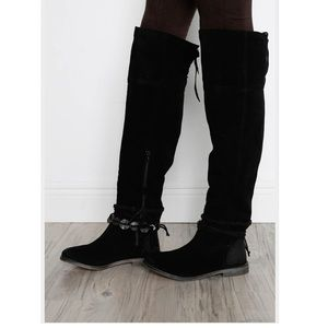 Musse & Cloud Suede Leather Over-the-Knee Boots