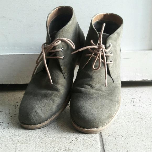 42bc56982c1e0 H&M Shoes | Hm Mens Green Velvet Boots Size 43 Us 10 | Poshmark