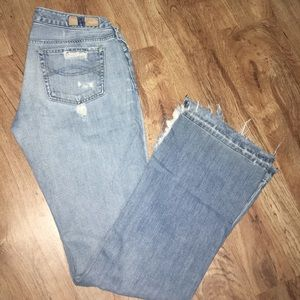 Vintage A&F holy jeans.